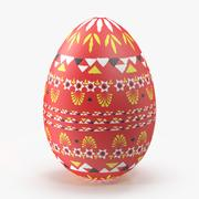 German Easter Egg Red 3d model