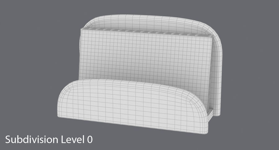 Etui na wizytówki 01 royalty-free 3d model - Preview no. 12