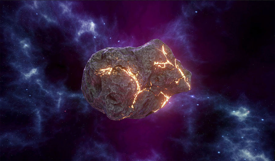 Asteroid Cracked-A4 royalty-free 3d model - Preview no. 1