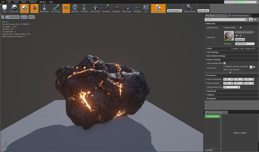 Asteroid Cracked-A4 royalty-free 3d model - Preview no. 8