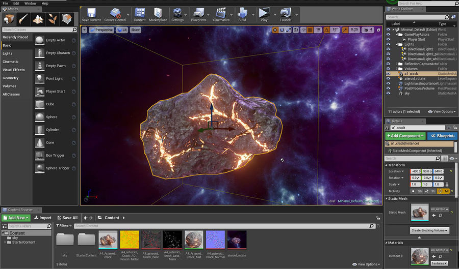 Asteroid Cracked-A4 royalty-free 3d model - Preview no. 22