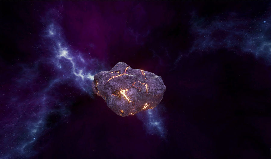 Asteroid Cracked-A4 royalty-free 3d model - Preview no. 19
