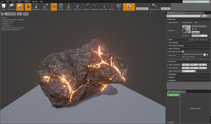 Asteroid Cracked-A4 royalty-free 3d model - Preview no. 7