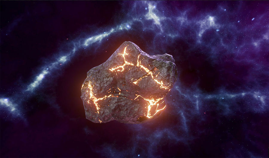 Asteroid Cracked-A4 royalty-free 3d model - Preview no. 5