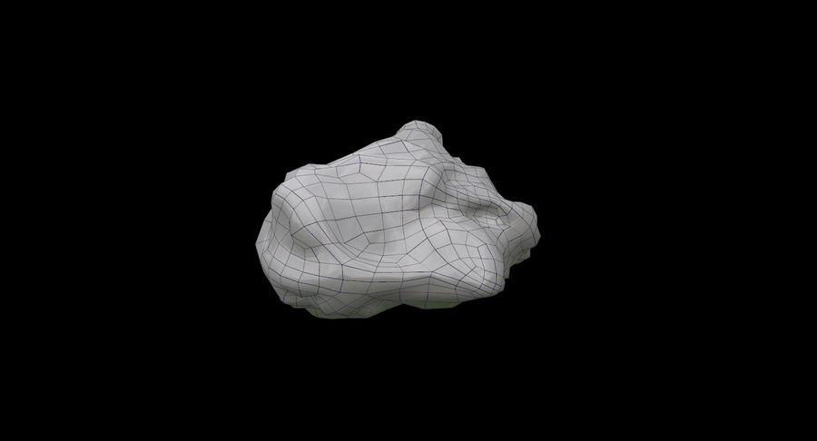 Asteroid Cracked-A4 royalty-free 3d model - Preview no. 13