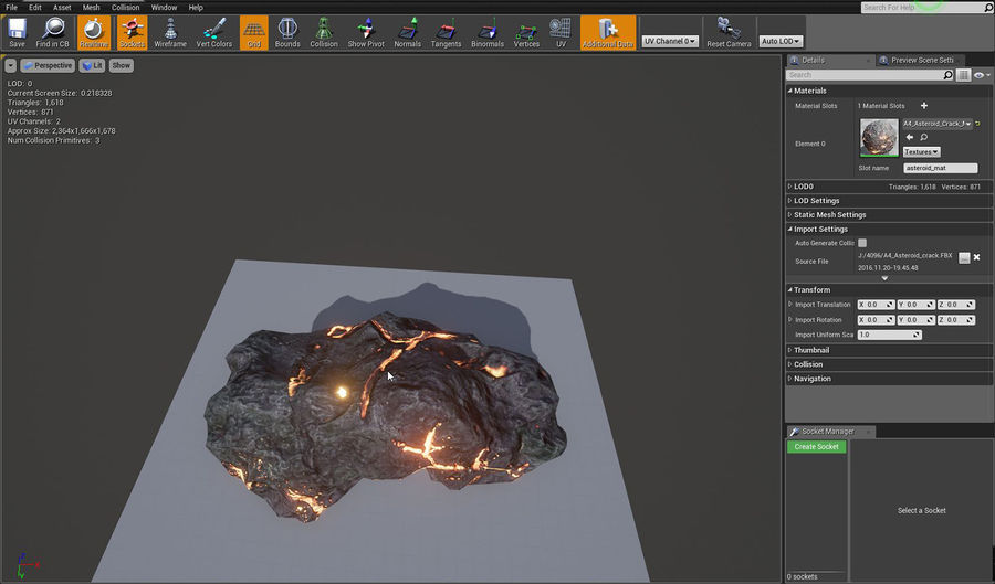 Asteroid Cracked-A4 royalty-free 3d model - Preview no. 11