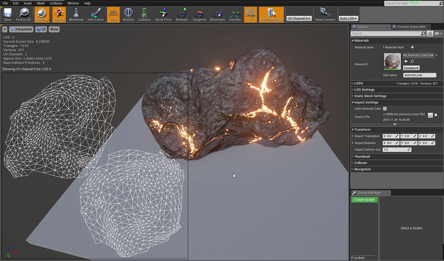 Asteroid Cracked-A4 royalty-free 3d model - Preview no. 10