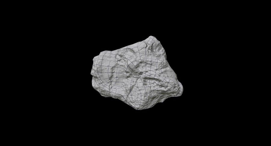 Asteroid Cracked-A4 royalty-free 3d model - Preview no. 37
