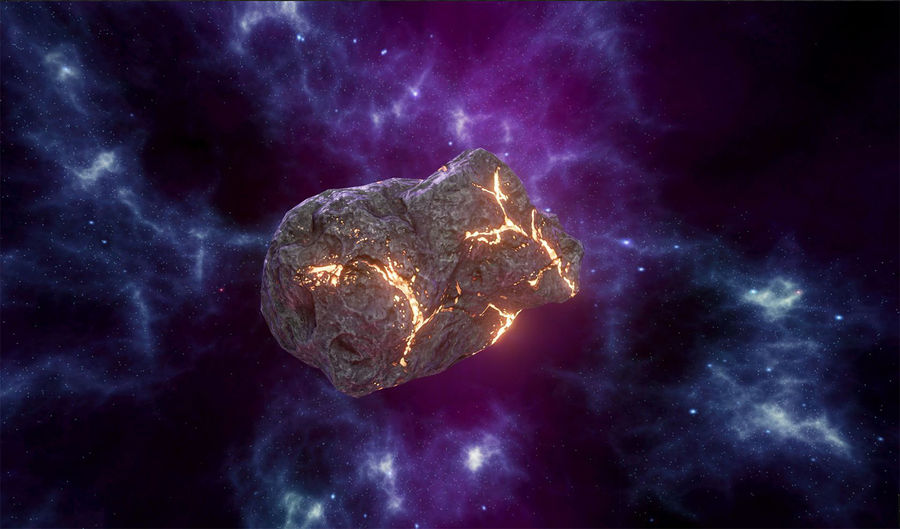 Asteroid Cracked-A4 royalty-free 3d model - Preview no. 3
