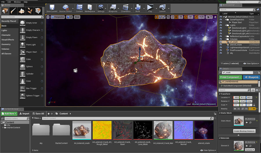 Asteroid Cracked-A4 royalty-free 3d model - Preview no. 26
