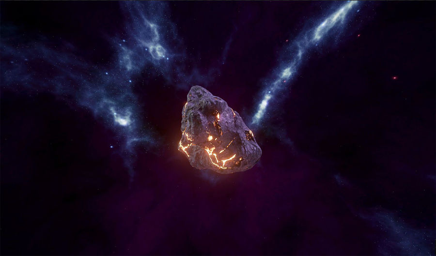 Asteroid Cracked-A4 royalty-free 3d model - Preview no. 18