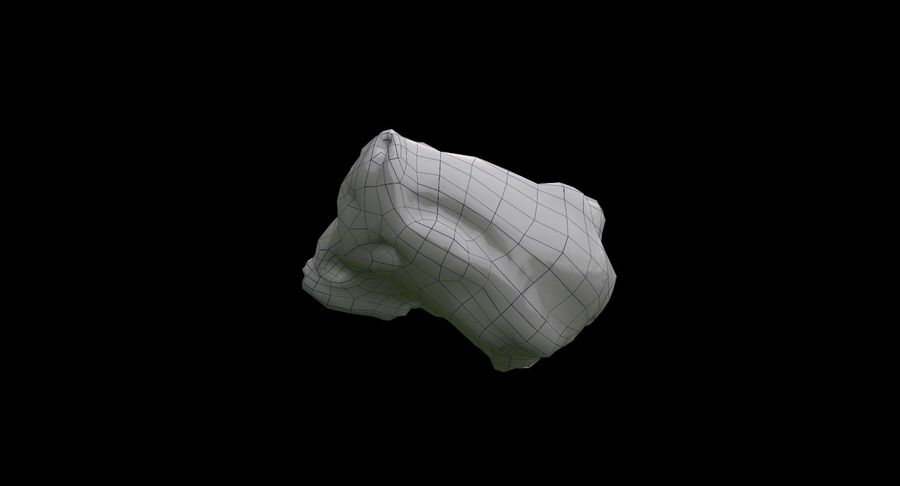 Asteroid Cracked-A4 royalty-free 3d model - Preview no. 12
