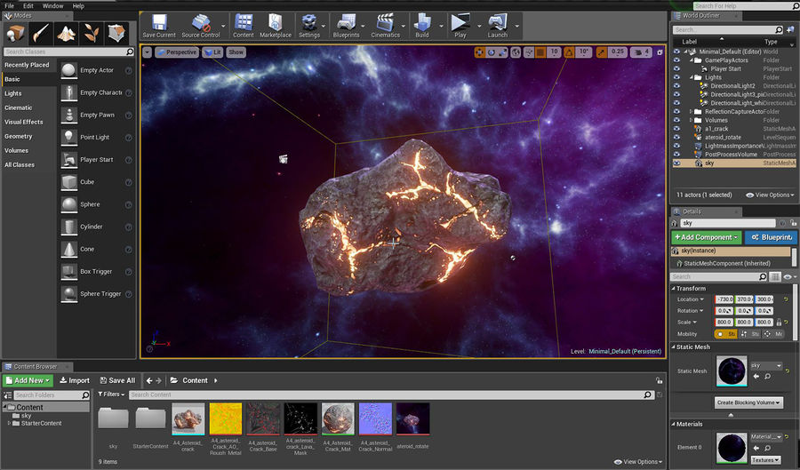 Asteroid Cracked-A4 royalty-free 3d model - Preview no. 20