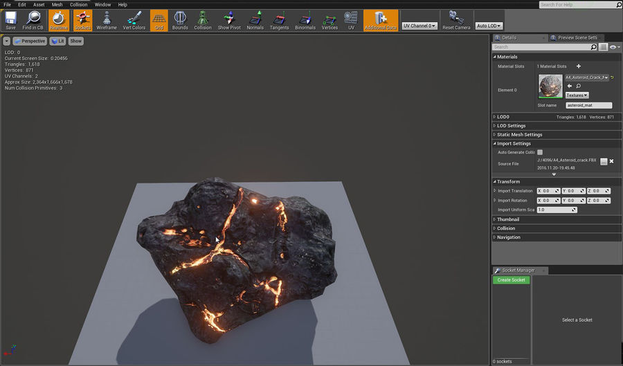 Asteroid Cracked-A4 royalty-free 3d model - Preview no. 9