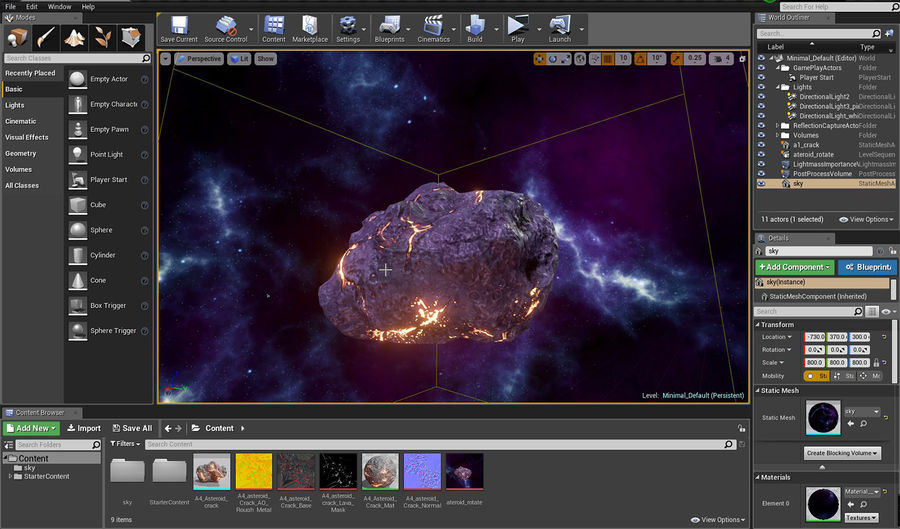 Asteroid Cracked-A4 royalty-free 3d model - Preview no. 21