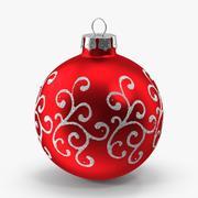Red Swirls Ornament 3d model
