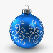 Ornamento dos redemoinhos do azul 3d model