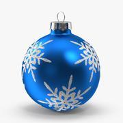 Ornamento azul do floco de neve 3d model