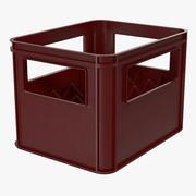 Cajas De Botellas De Plástico Rojo modelo 3d
