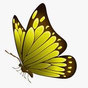 Vlinder geel 3d model