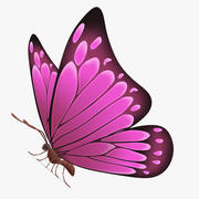 Бабочка розовая 3d model
