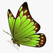 Vlinder groen 3d model