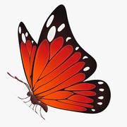 Butterfly Red 3d model