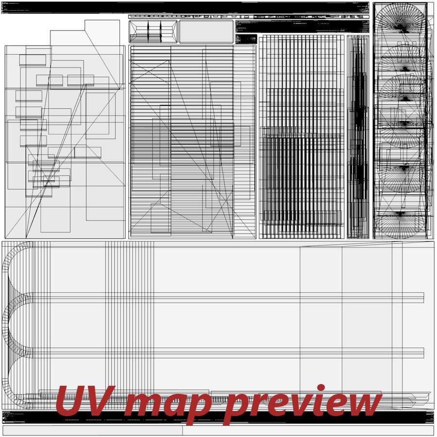 Modern huis met interieur royalty-free 3d model - Preview no. 29