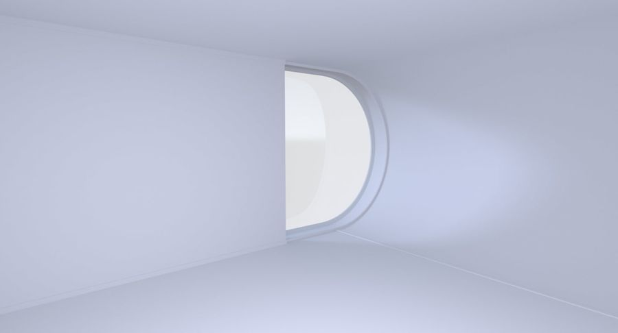 Modern huis met interieur royalty-free 3d model - Preview no. 10