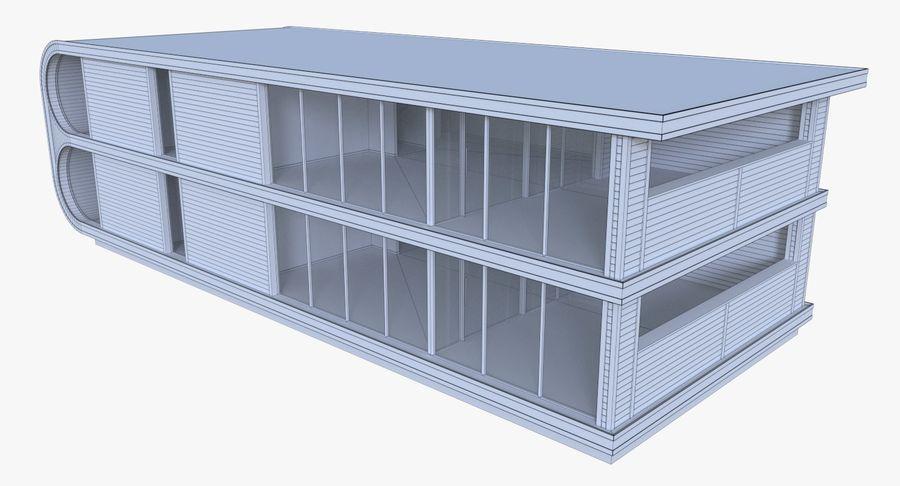 Modern huis met interieur royalty-free 3d model - Preview no. 19