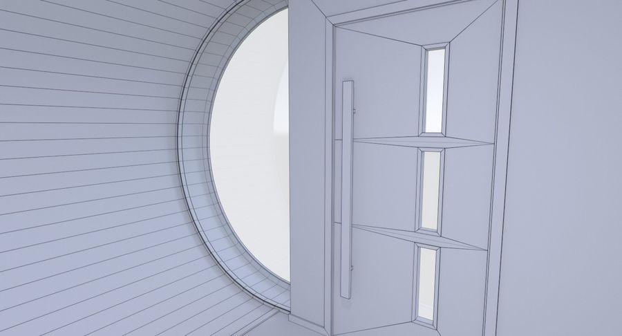 Modern huis met interieur royalty-free 3d model - Preview no. 24