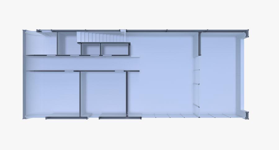 인테리어와 모던 하우스 royalty-free 3d model - Preview no. 15