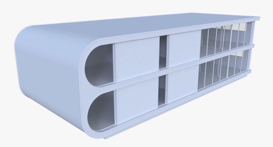 Modern huis met interieur royalty-free 3d model - Preview no. 2