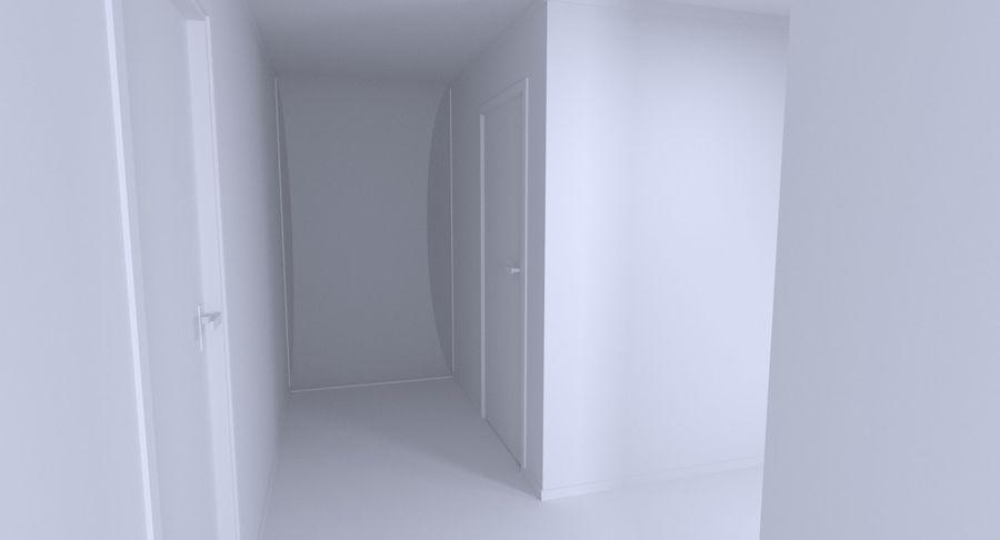 Modern huis met interieur royalty-free 3d model - Preview no. 9