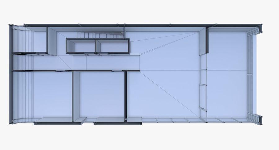 Modern huis met interieur royalty-free 3d model - Preview no. 27