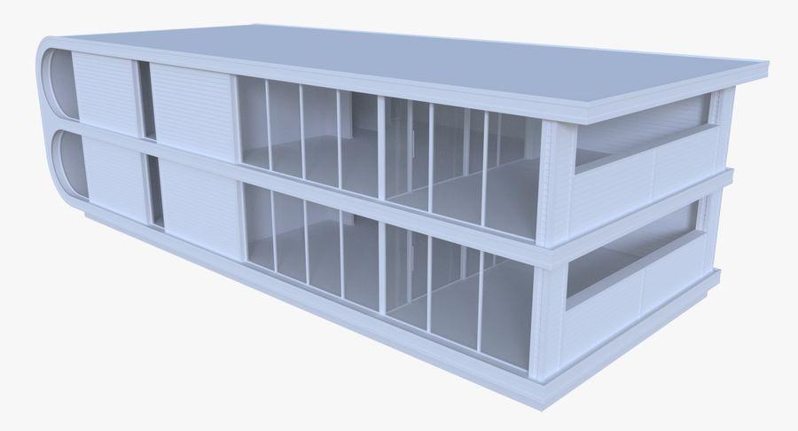 Modern huis met interieur royalty-free 3d model - Preview no. 5