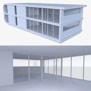 Modern huis met interieur 3d model