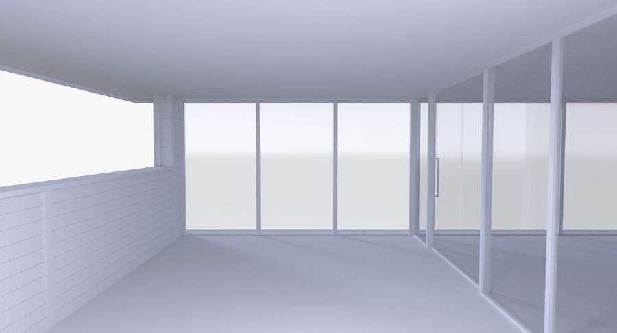 Modern huis met interieur royalty-free 3d model - Preview no. 7
