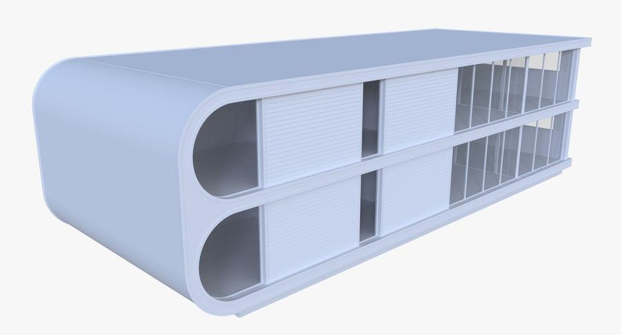 인테리어와 모던 하우스 royalty-free 3d model - Preview no. 2