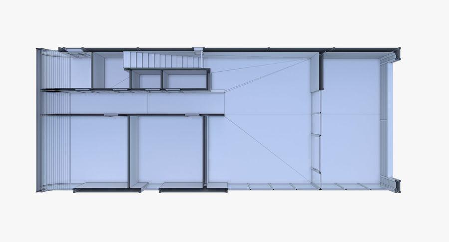 Modern huis met interieur royalty-free 3d model - Preview no. 28
