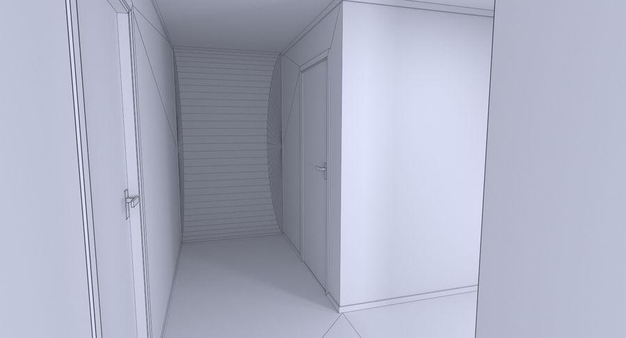인테리어와 모던 하우스 royalty-free 3d model - Preview no. 22