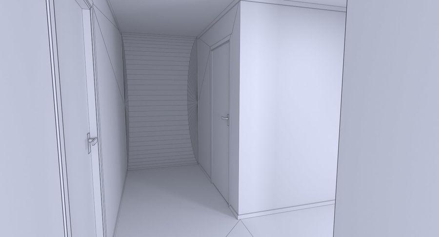 Modern huis met interieur royalty-free 3d model - Preview no. 22