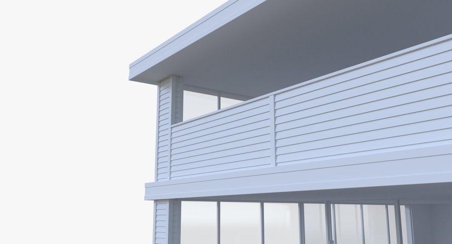 Modern huis met interieur royalty-free 3d model - Preview no. 6