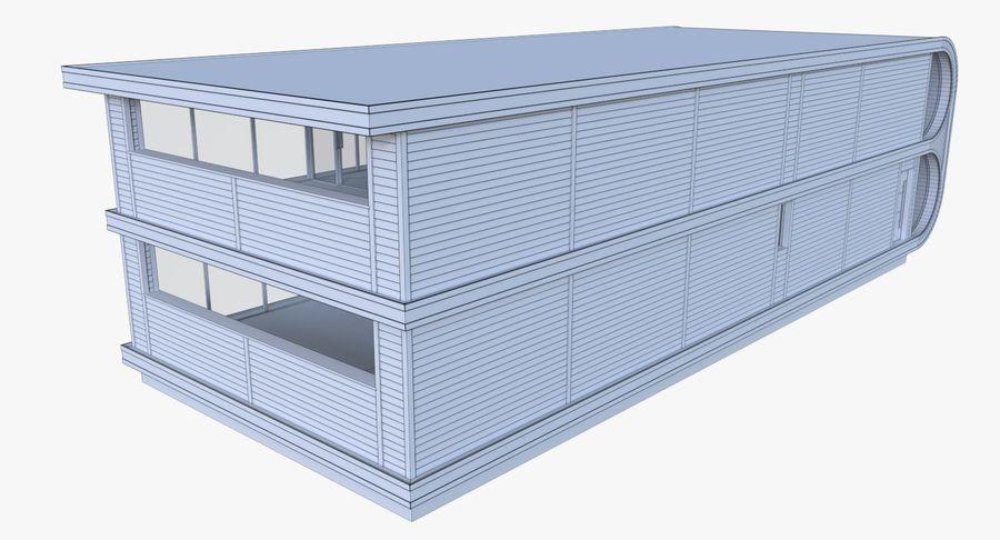 Modern huis met interieur royalty-free 3d model - Preview no. 18