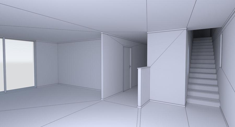 인테리어와 모던 하우스 royalty-free 3d model - Preview no. 25