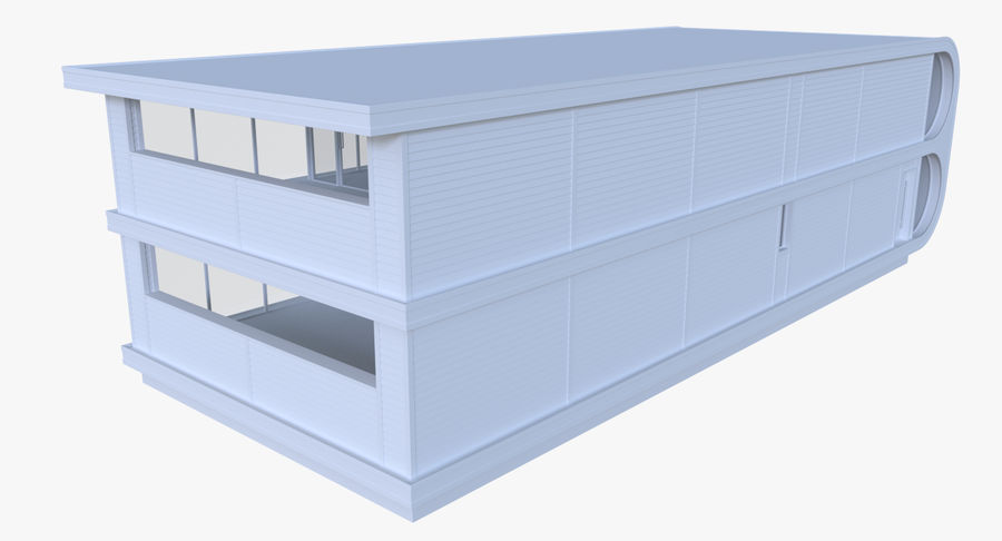 인테리어와 모던 하우스 royalty-free 3d model - Preview no. 4