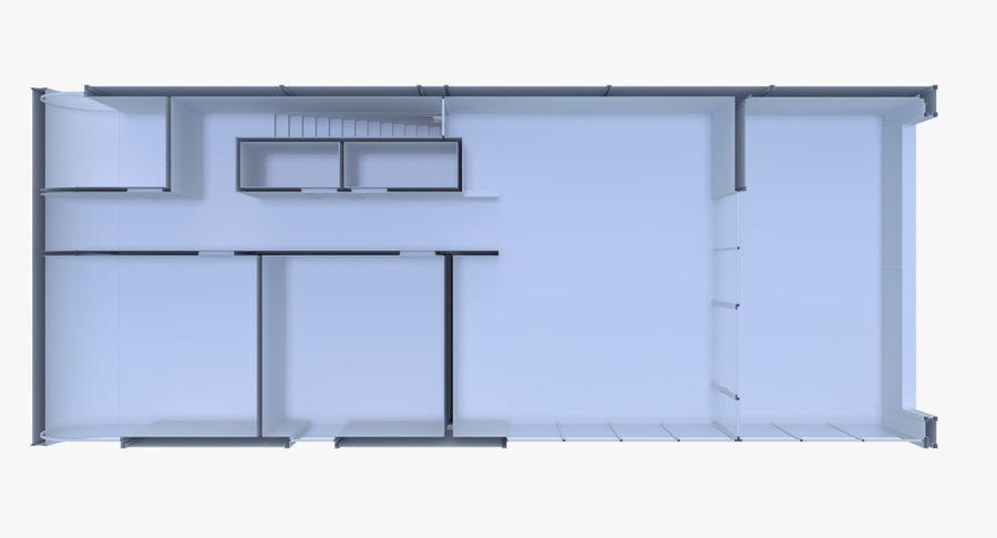 Modern huis met interieur royalty-free 3d model - Preview no. 14
