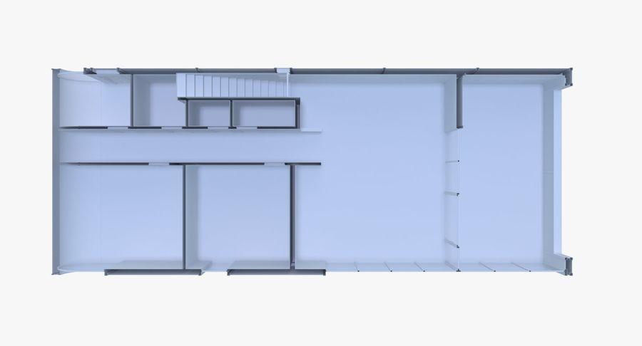 Modern huis met interieur royalty-free 3d model - Preview no. 15