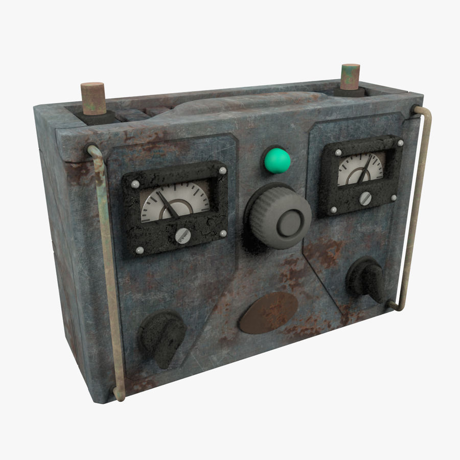 Old Battery Charger royalty-free 3d model - Preview no. 2
