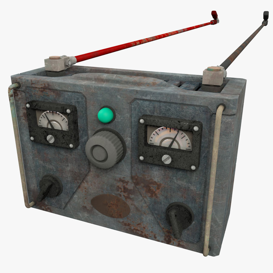 Old Battery Charger royalty-free 3d model - Preview no. 1